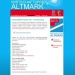 Wirtschaftspreis Altmark 2013