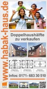 Verkaufsschild Doppelhaus