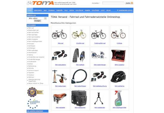 Fahrrad und Fahrradersatzteile Onlineshop