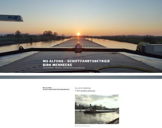 MS Alfons Schifffahrtsbetrieb Mennecke