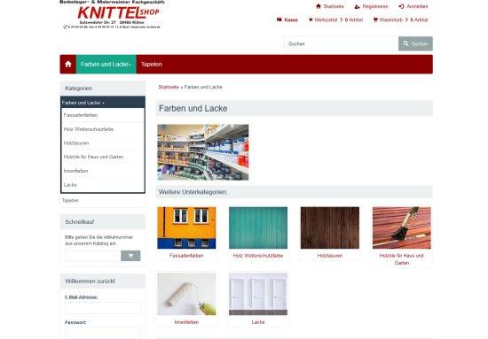 Shop Maler Knittel Klötze