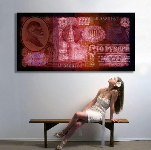 Frankreichts - Geldkunstarbeiten von Frank Platte